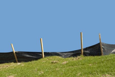 Erosion Control on a Construction Site photo