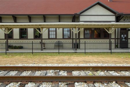 depot: Railroad Depot in a Small Country Town