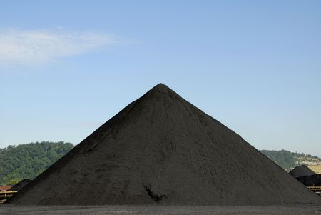 heap: Large Stockpile of Coal Stock Photo