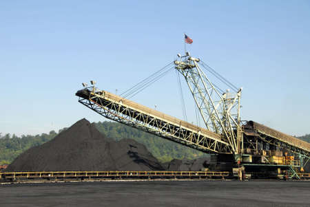 machines: Large Industrial Machine used to Load Coal Stock Photo