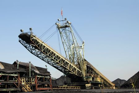 Industrial Loader used to Load Coal for Transport Stock Photo