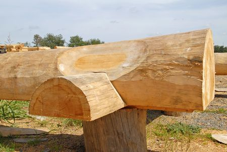 joinery: Close-up of Log Cabin Joinery