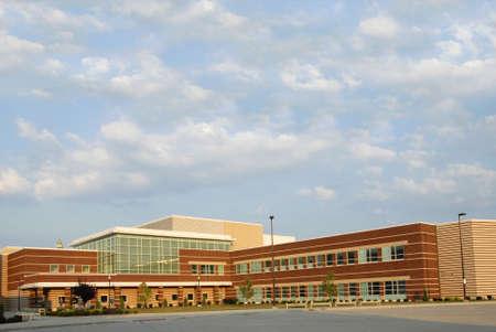 Modern New School Building Stock Photo