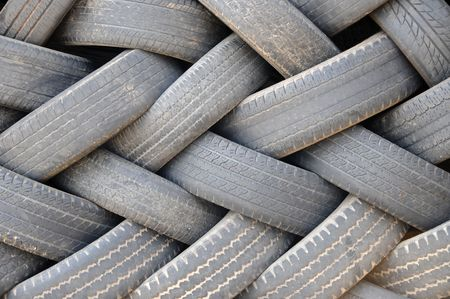 Pile of Used Tires photo