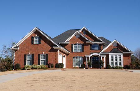 A Beautiful New Custom Built House Stock Photo - 4293207