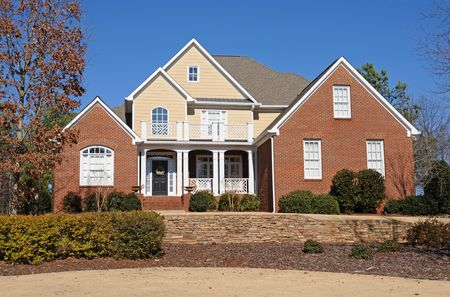 A Beautiful New Custom Built House Stock Photo - 4293250
