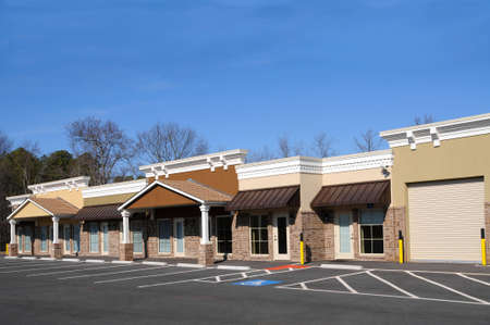 New Commercial Building with Office and Retail Space Stock Photo - 4293252