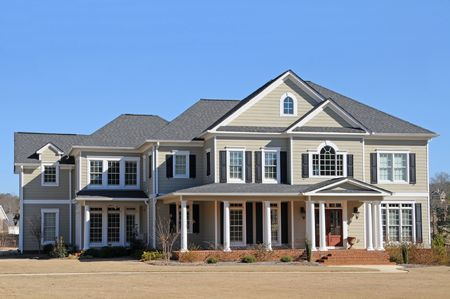 New Two-Story Luxury House Stock Photo - 4293253