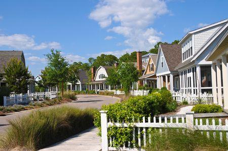 expensive: A New Beach Resort Community Stock Photo