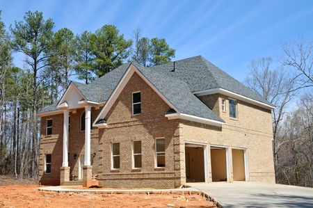 Large New Two Story House Construction Stock Photo - 5156585