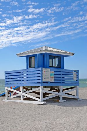 Lifeguard Station on the Beach photo