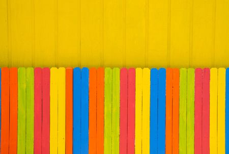 Bright Color Fence photo