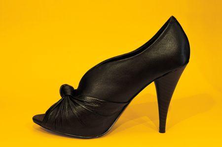 Sexy Black High Heel Shoe photo