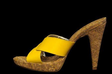 Sexy Yellow High Heel Sandal Stock Photo - 6291848