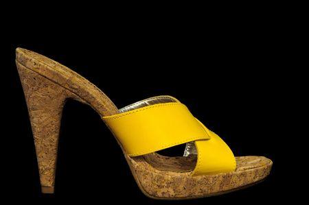 Sexy Yellow High Heel Sandal Stock Photo - 6386194