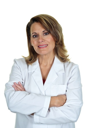 An Attractive Woman Wearing a Labcoat photo