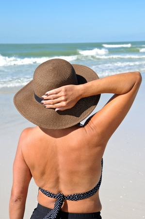 40 50: Attractive Woman on the Beach