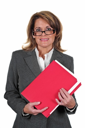 strong: Attractive Business Woman Stock Photo