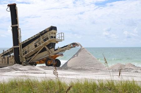 gulf of mexico: Beach Renourishment to Restore Coastline Stock Photo