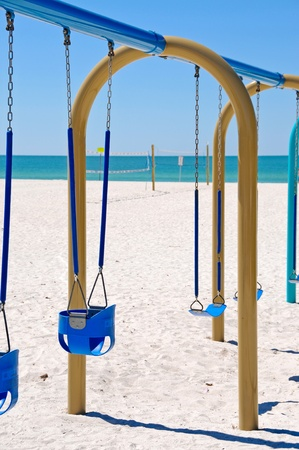 Swing Set on the Beach photo