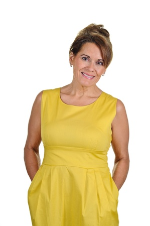 Woman Wearing Yellow Dress photo