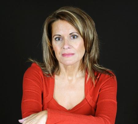 50: Portrait of Attractive Woman Stock Photo