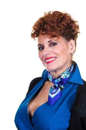 sexy mature women: Attractive Retro Style Woman Stock Photo