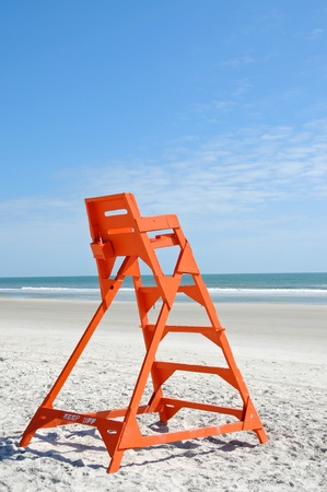 Empty Life Guard Stand on the Beach Stock Photo - 13286789