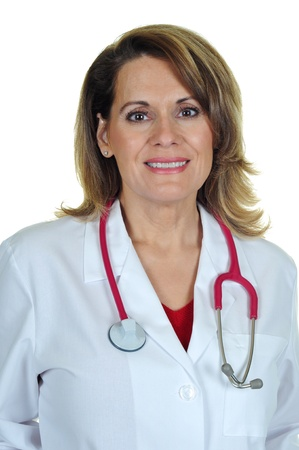 40 50: An Attractive Female Doctor with Stethoscope Stock Photo