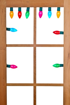 christmas bulbs: Christmas Lights in the Window