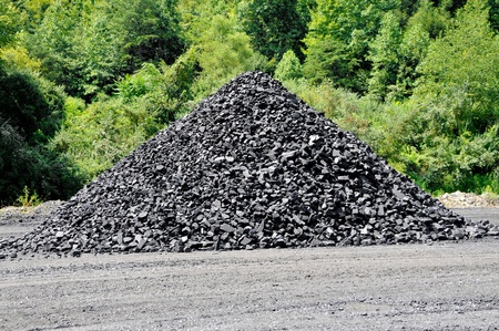 coal mining: Stockpile of Coal