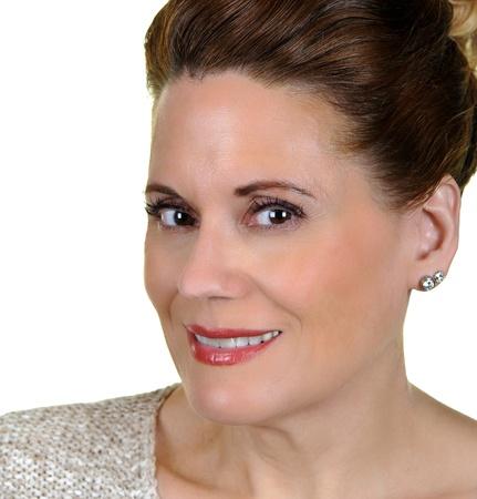 40 50: Portrait of an Beautiful Mature Woman  Stock Photo
