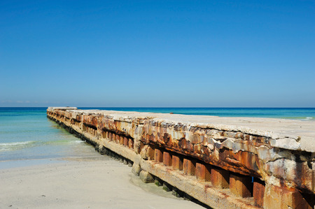 accretion: A Concrete Erosion Control Structure on the Florida Coastline