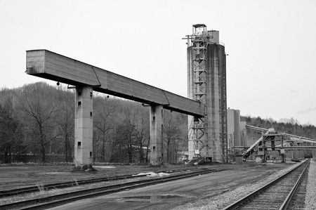 tipple: A Closed Down Coal Tipple used to Load Coal for Transport in the Appalachain Coal Fields Stock Photo