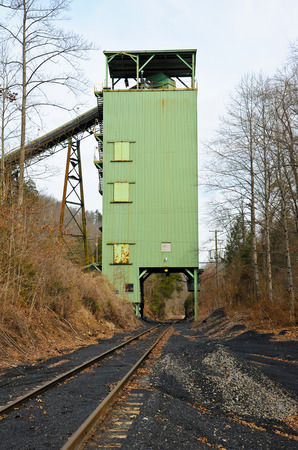 tipple: A Closed Down Coal Tipple with Empty Railroad Loading Track