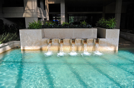water feature: Indoor Fountain with Waterfall Feature
