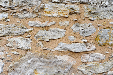 Old Limestone Wall on the Exterior of the Alamo photo