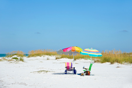anna: Beach Umbrella, Chairs and Items for Enjoying a Day at the Beach