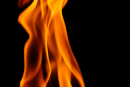 dynamic heat black: Blur Image of the Flames from a Torch at Night Stock Photo