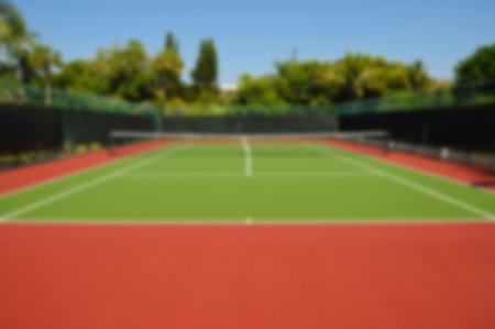 tenis: Desenfoque imagen de fondo de un Tribunal de Nueva Tenis Foto de archivo