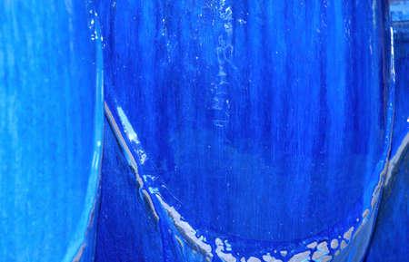 ollas de barro: Blue ollas de barro vidriado