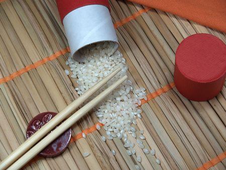 le riz et le bâton