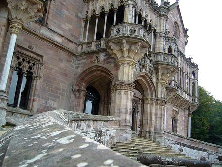 Vieux château vue Banque d'images