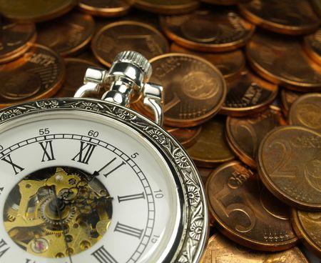 Temps c'est de l'argent  Banque d'images