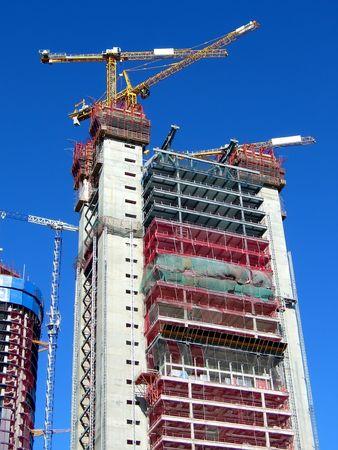 construction de gratte-ciel  Banque d'images