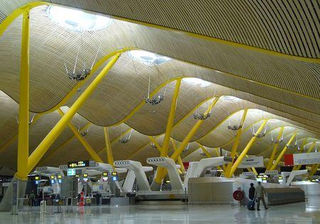 architecture d'intérieur moderne, l'aéroport de détail Éditoriale
