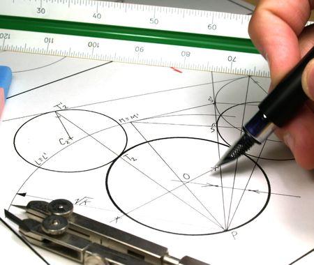 compas: tech draw          Stock Photo