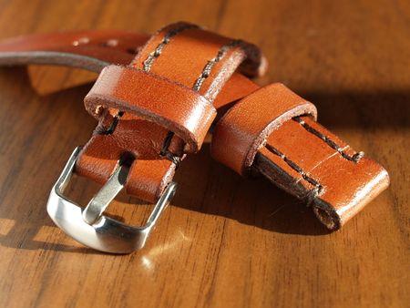 bracelet en cuir brun