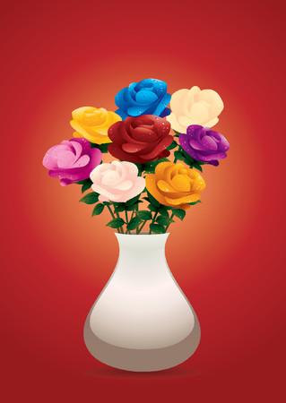 vases: roses