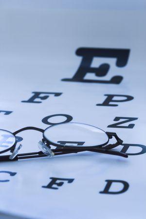 optometrist eye test chart blue Stock Photo - 408683